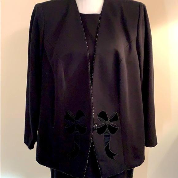 Leslie Fay Black Suit Jacket w/Dress Size 14W
